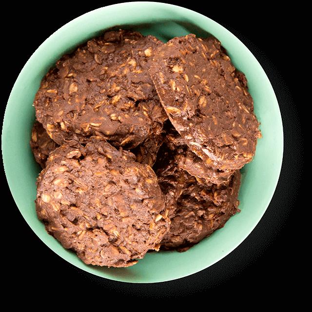 Czekoladowe ciastka owsiane
