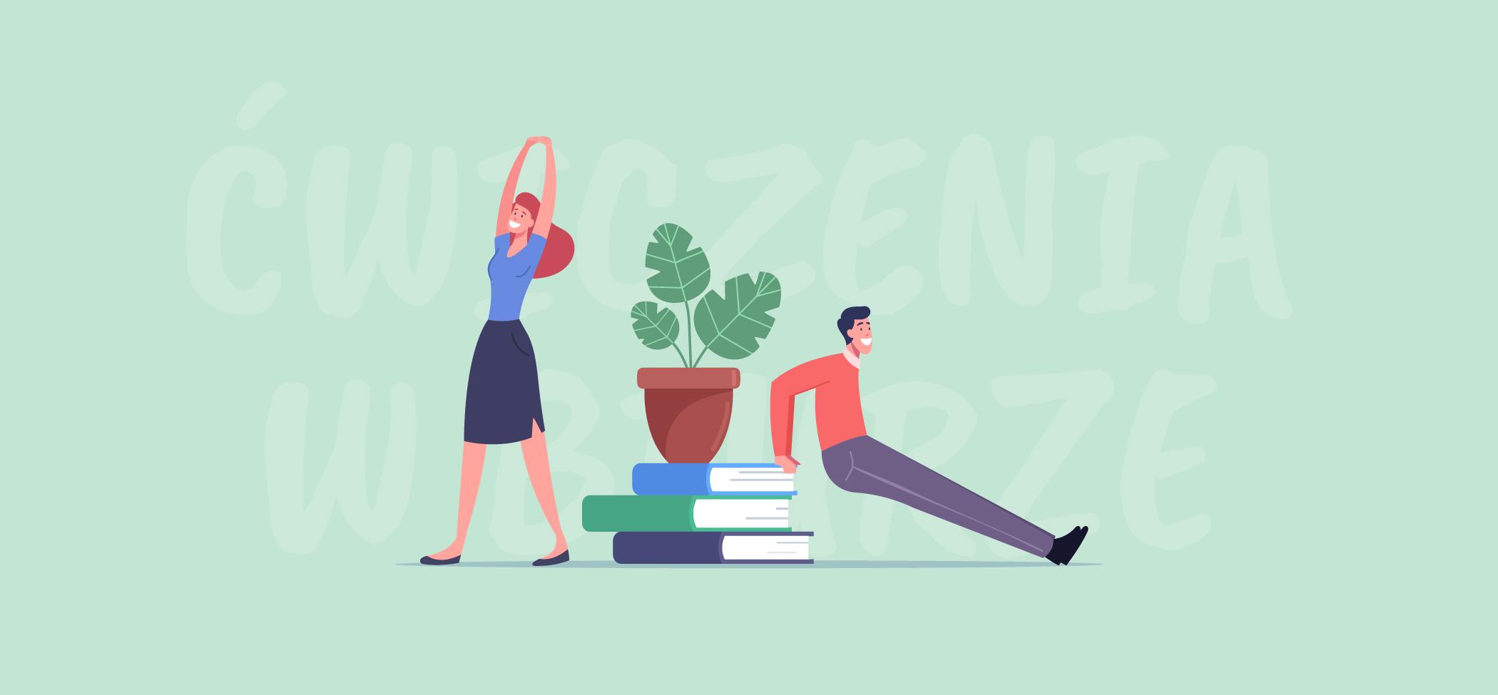 Zdjęcie do: Ćwiczenia w biurze, czyli trening dla osób pracujących za biurkiem